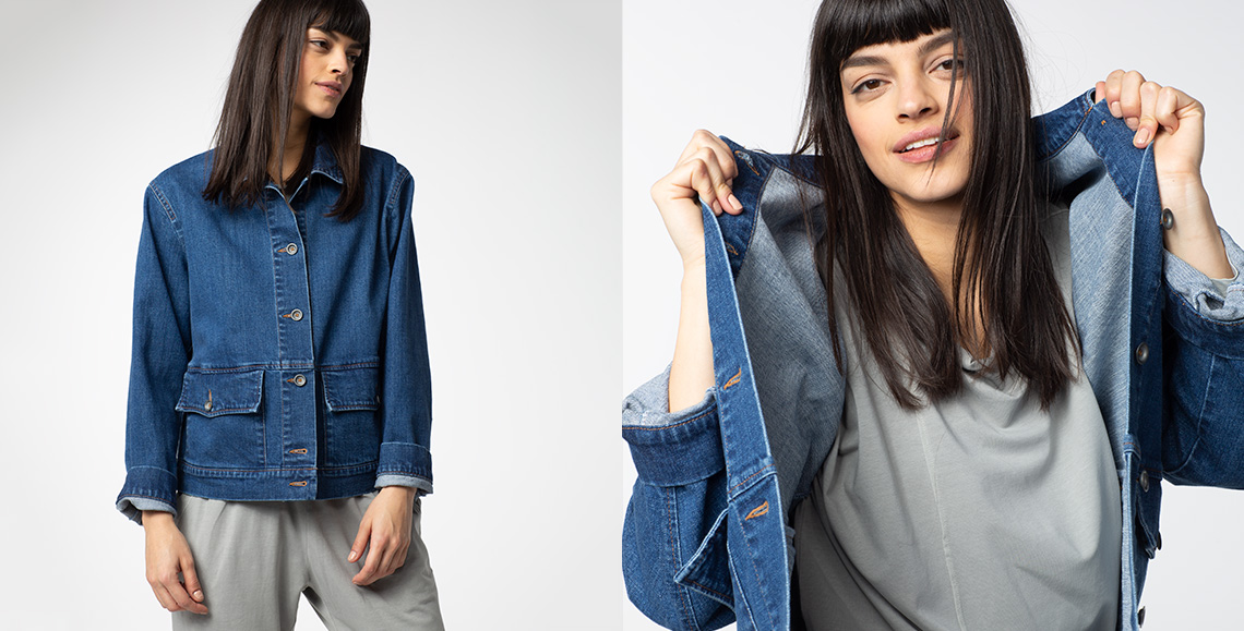 Jacket Weslyn wash denim