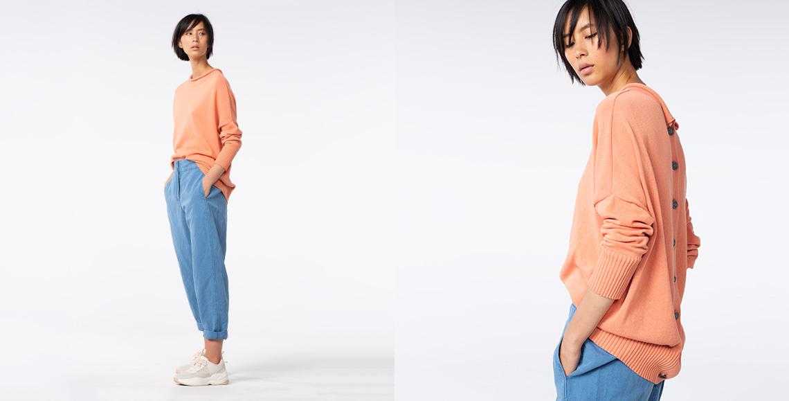 Pullover Statori 905 kimchi Hose Bavena 902 blue denim