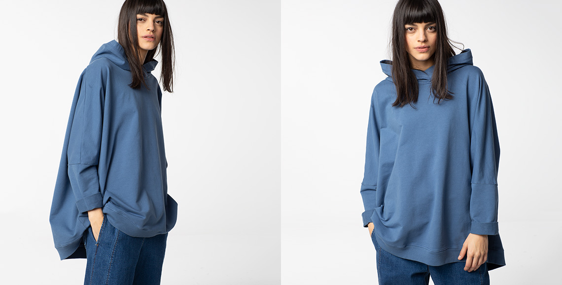 Pullover Davero blue denim