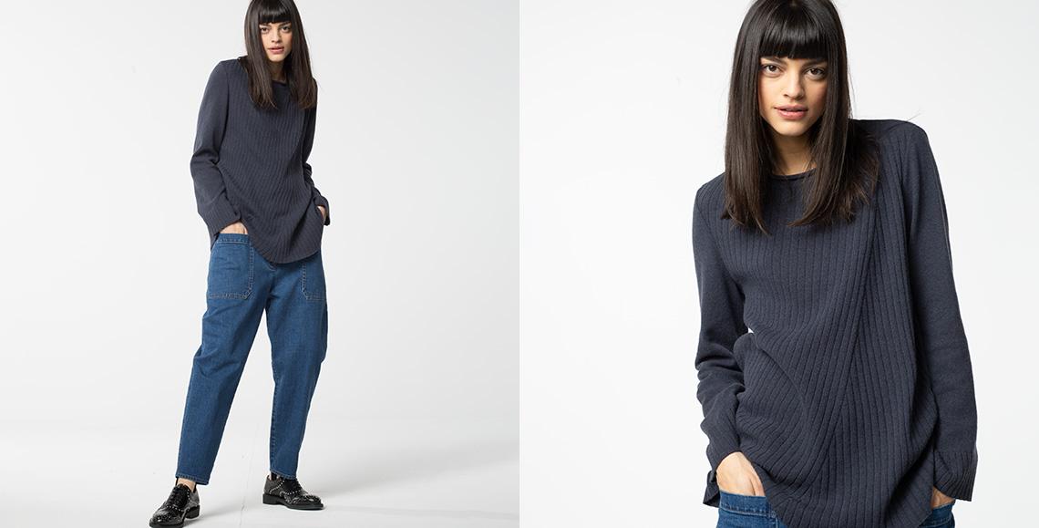Pullover 905 grey blue