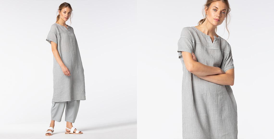 Dress Rinji 928 chalk Trousers Draba 921 limestone