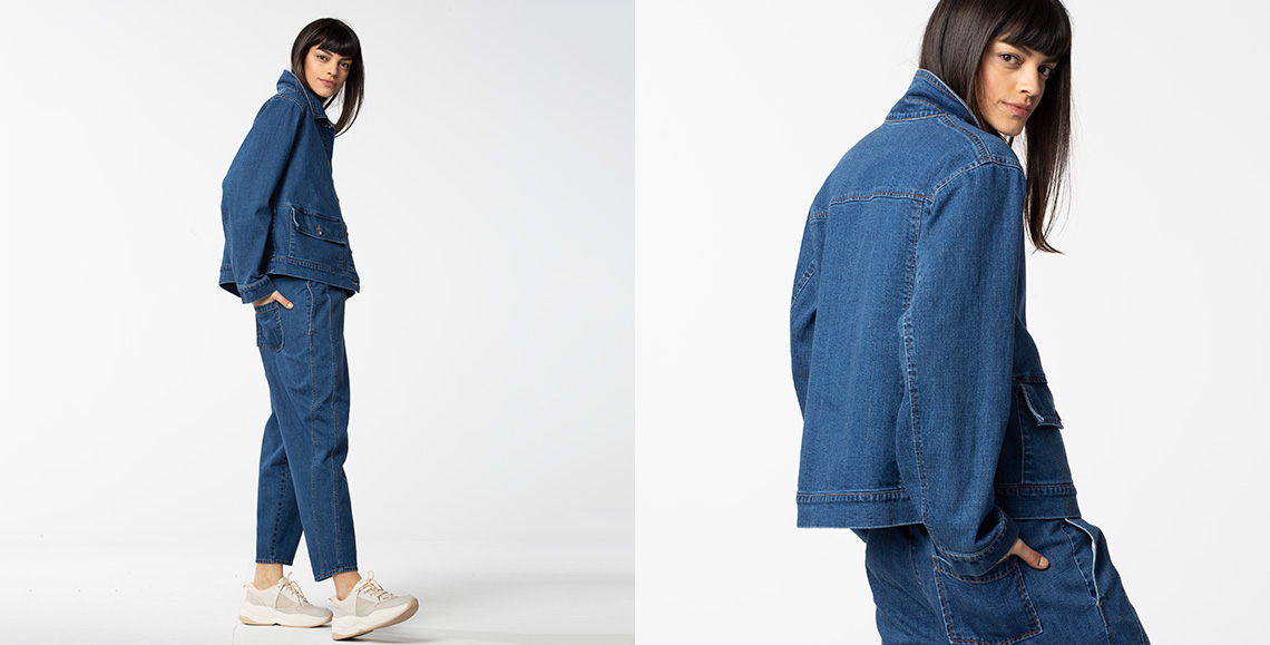 Jacke Weslyn wash denim