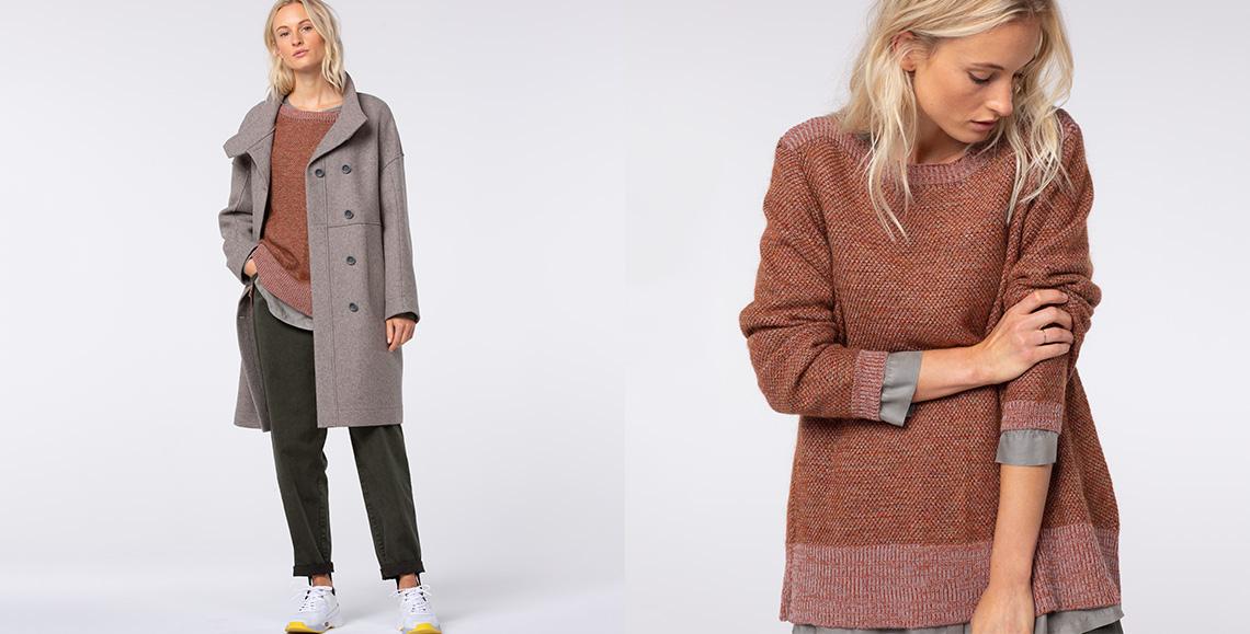 coat Astou 901 stone